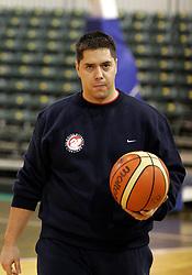 New  assistant coach of KK Union Olimpija Saso Filipovski at first day of practice before Euroleague match vs AEK Athene, on November 30, 2005, Hala Tivoli, Ljubljana, Slovenia.  (Photo by Vid Ponikvar / Sportida)