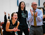 Norman North's Jade Robinson celebrating with the Timberwolves victory over Edmond Norths Huskies during their game on Saturday, March 02, 2019 at Western Heights.