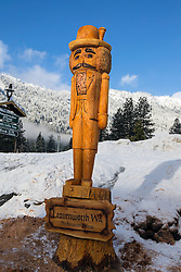 Nutcracker statue carved out of a log, Leavenworth, Washington, United States of America