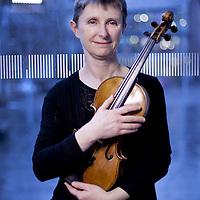 Lesley Hatfield.<br /> Hebrides Ensemble violinist.<br /> <br /> Picture Drew Farrell<br /> Tel : 07721-735041.