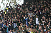 Dundee fans applaud their team at the end - Dundee v Aberdeen in the Clydesdale Bank Scottish Premier League at Dens Park.. - © David Young - www.davidyoungphoto.co.uk - email: davidyoungphoto@gmail.com