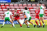 11th November 2018 , Racecourse Ground,  Wrexham, Wales ;  Rugby League World Cup Qualifier,Wales v Ireland ; Dalton Grant of Wales in action<br /> <br /> <br /> Credit:   Craig Thomas/Replay Images