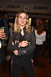 Belle Hutley at The Tribe Syndicate launch party hosted by Highclere Thoroughbred Racing at Beaufort House, 354 King's Rd, London England. 25 April 2018.