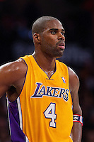 09 November 2012: Forward (4) Antawn Jamison of the Los Angeles Lakers against the Golden State Warriors during the second half of the Lakers 101-77 victory over the Warriors at the STAPLES Center in Los Angeles, CA.