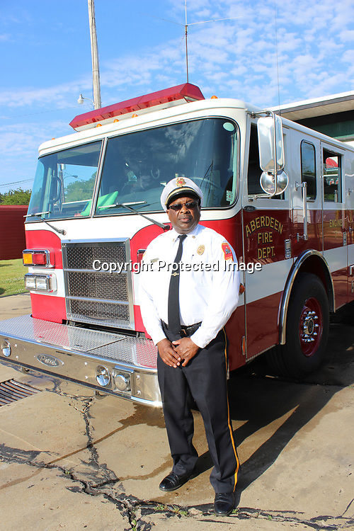 RAY VAN DUSEN/BUY AT PHOTOS.MONROECOUNTYJOURNAL.COM<br /> Outgoing Aberdeen Fire Chief Frank Gladney has served with the department for 42 years and has risen in ranks before accepting its top position in 2001. He will retire at the end of the month.