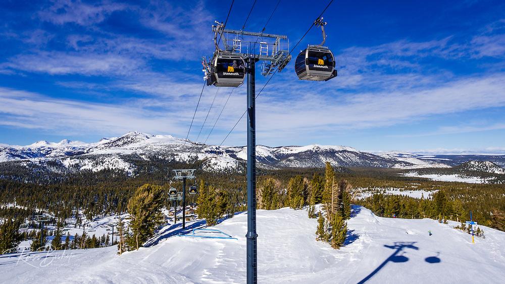 The gondola at Mammoth Mountain Ski Area, Mammoth Lakes, California USA