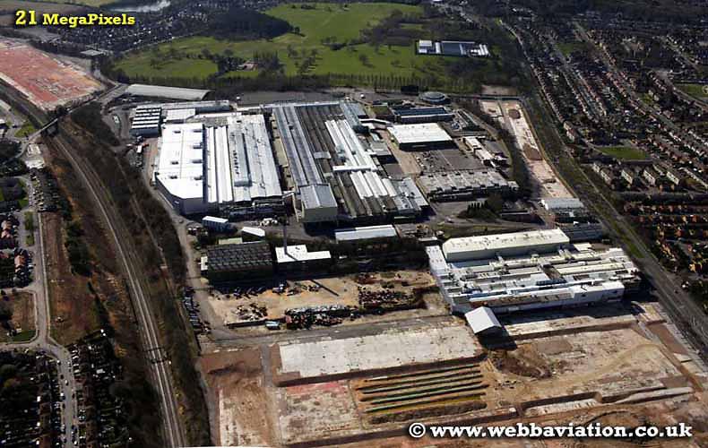 aerial photograph MG Factory Longbridge  Birmingham England UK