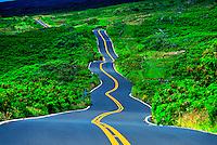 Driving the Kula Highway, Maui, Hawaii USA