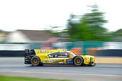 June 17, 2018 - Le Mans, Sarthe, France - Racing Team Nederland DALLARA P217 Gibson Driver GIEDO VAN DER GARDE (NLD) in action during the 86th edition of the 24 hours of Le Mans 2nd round of the FIA World Endurance Championship at the Sarthe circuit at Le Mans - France (Credit Image: © Pierre Stevenin via ZUMA Wire)