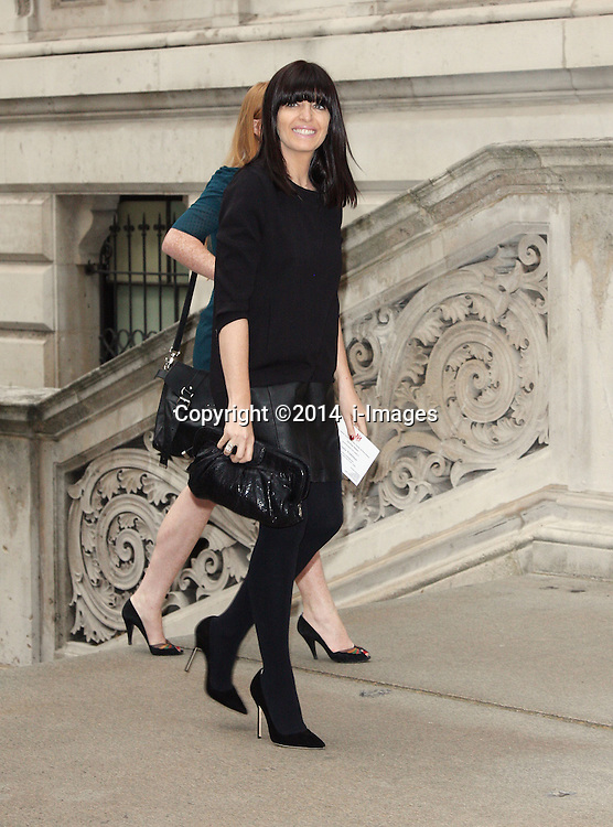 Image ©Licensed to i-Images Picture Agency. 30/06/2014. London, United Kingdom. CLAUDIA WINKLEMAN<br /> attends a reception for the Best of Britain's Creative Industries at The Foreign Office. Picture by  i-Images