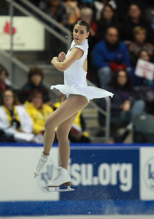 20101030 -- Kingston, Ontario -- Cynthia Phaneuf of Canada skates her free skate at Skate Canada International in Kingston, Ontario, Canada, October 30, 2010. <br /> AFP PHOTO/Geoff Robins