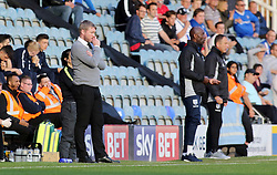 Peterborough United Manager Grant McCann watches on from the touchline alongside Gillingham caretaker manager Steve Lovell - Mandatory by-line: Joe Dent/JMP - 14/10/2017 - FOOTBALL - ABAX Stadium - Peterborough, England - Peterborough United v Gillingham - Sky Bet League One