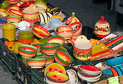 Typical Provencal pottery, vintage clothing, toys, and antiques share sidewalk space with amazing food and working artists during the Sunday flea markets for which the town of L'Isle-sur-la-Sorgue is famous. Considering its more than 300 permanent antique shops and decorator establishments, this town in Provence is the second largest (after Paris) antiques center in France.