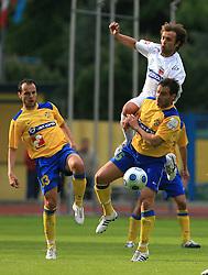 Dalibor Teinovic and Juan Vitagliano at 31st Round of PrvaLiga Telekom Slovenije 2008/2009 league match between NK Luka Koper and NK Primorje, on May 2, 2009, in SRC Bonifika, Koper, Slovenia. Luka Koper won 1:0. (Photo by Vid Ponikvar / Sportida)