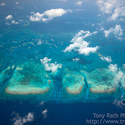 Aerials taken during LightHawk flight over barrier reef, Pelican Cayes, and South Water Caye Marine Reserve, Belize