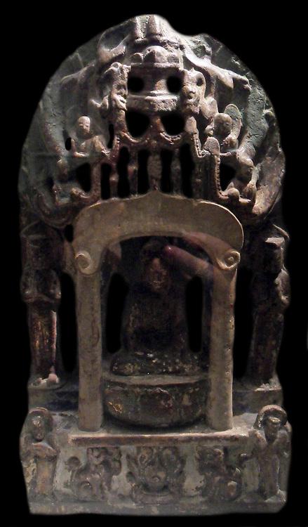 Trinity of the Buddha (Sakamuni).  550-577 AD Qi Dynasty Chinese