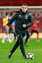 © Licensed to London News Pictures . 12/12/2016 . Manchester , UK . MUFC Youth Manager KIERAN McKENNA . Manchester United vs Southampton FA Youth Cup Third Round match at Old Trafford . Photo credit : Joel Goodman/LNP