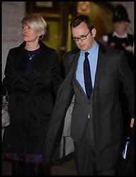 The Prime Minister David Cameron's ex spin Doctor Andy Coulson  leaves the Old Bailey with his wife Eloise after the official start of the Phone Hacking Trial, London, United Kingdom. Wednesday, 30th October 2013. Picture by Andrew Parsons / i-Images