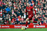 Liverpool midfielder Jordan Henderson (14) during the Premier League match between Liverpool and Watford at Anfield, Liverpool, England on 14 December 2019.