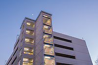 Architectural exterior image of parking garage at Kaiser Permanente in McLean Virginia by Jeffrey Sauers of Commercial Photographics, Architectural Photo Artistry in Washington DC, Virginia to Florida and PA to New England