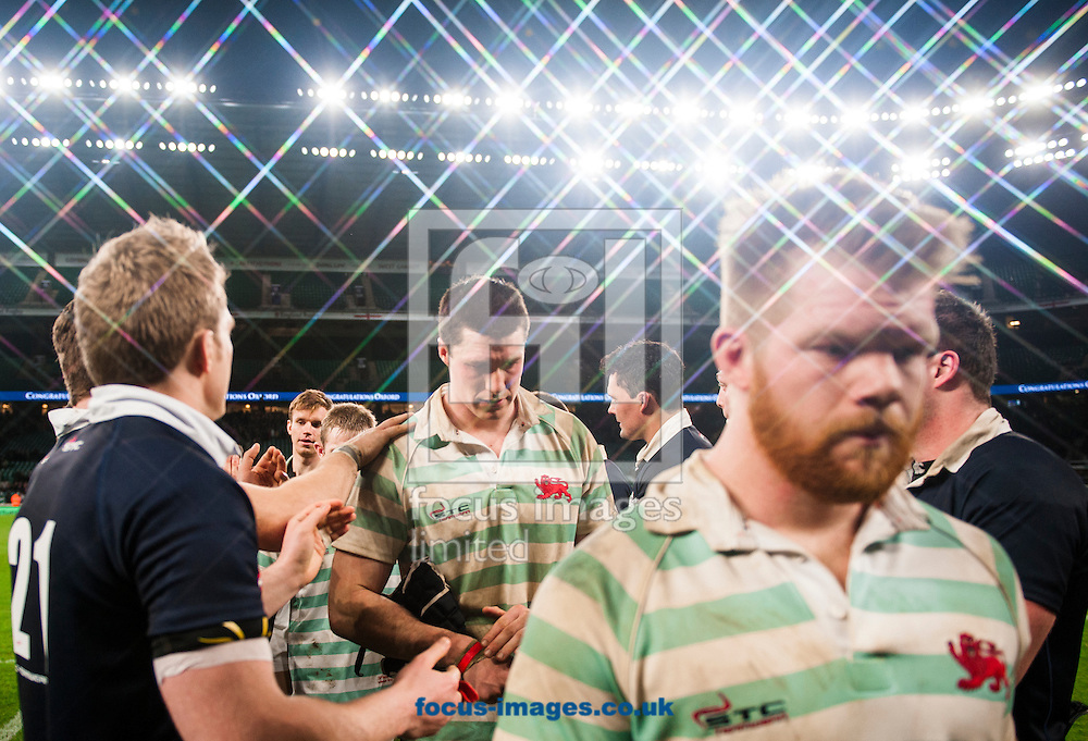Jamie Roberts of Cambridge University is applauded off the pitch by Oxford players during the The Mens Varsity Match match at Twickenham Stadium, Twickenham<br /> Picture by Jack Megaw/Focus Images Ltd +44 7481 764811<br /> 10/12/2015