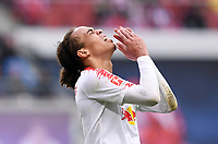 FUSSBALL  1. BUNDESLIGA  SAISON 2018/2019  33. SPIELTAG  RB Leipzig - FC Bayern Muenchen                    11.05.2019 Yussuf Poulsen (RB Leipzig) enttaeuscht ----DFL regulations prohibit any use of photographs as image sequences and/or quasi-video.----