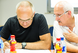 Viktor Vauhnik and Janez Vodicar during meeting of Executive Committee of Ski Association of Slovenia (SZS) on June 16, 2015 in Ljubljana, Slovenia. Photo by Vid Ponikvar / Sportida