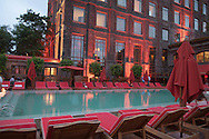 Argentina. Buenos Aires. swimming pool, in FAENA Hotel + universe, http://www.faenahotelanduniverse.com/ design by phillipe STARCK and Alan Faena, fashion designer, in the DOCKS,  new trendy area  Martha Salotti 445 (C1107CMB)     Buenos Aires -    / piscine . FAENA Hotel + universe, Faena art district,  http://www.faenahotelanduniverse.com/ design deco par Phillipe STARCK and Alan Faena dessinateur de mode, dans le nouveau quartier des docks Martha Salotti 445 (C1107CMB)   Buenos Aires - Argentine  R037