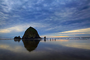 Haystack Rock in Cannon Beach is protected as an Oregon Islands National Wildlife Refuge and Marine Garden. (Ellen M. Banner/The Seattle Times)