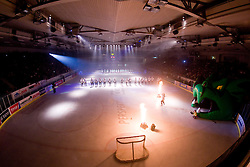 View from top at the beginning of the match in Tomaz Vnuk's exhibition game between team HDD Tilia Olimpija and team 24 Ever on August 28, in Ljubljana, Slovenia. (Photo by Matic Klansek Velej / Sportida)