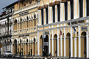 The British Council Building is part of the urban landscape in Georgetown, Penang, Malaysia.