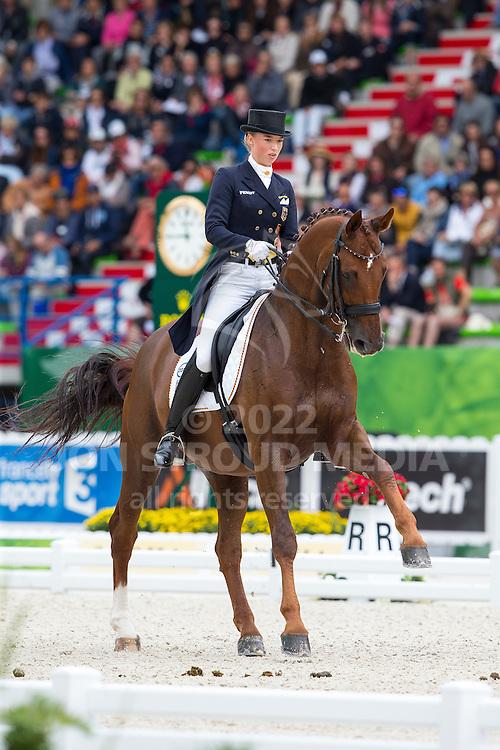 Fabienne Lutkemeier, (GER), D'Agostino FRH - Grand Prix Special Dressage - Alltech FEI World Equestrian Games&trade; 2014 - Normandy, France.<br /> &copy; Hippo Foto Team - Leanjo de Koster<br /> 25/06/14