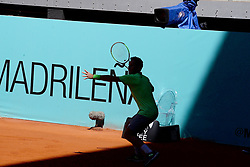 May 5, 2019 - Madrid, Spain - Roberto Carballes Baena (SPA) in his match against Hubert Hurkacz (POL) during day two of the Mutua Madrid Open at La Caja Magica in Madrid on 5th May, 2019. (Credit Image: © Juan Carlos Lucas/NurPhoto via ZUMA Press)