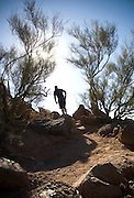 Hiking Camelback Mountain in Phoenix, Arizona. Hiking Camelback Mountain in Scottsdale, Arizona.