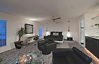 Modern living room in mansion