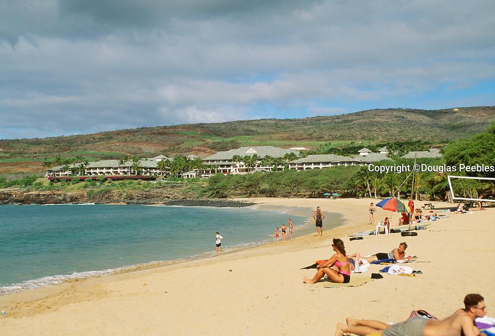 Hulupoe Bay, Manele, Lanai Hawaii, beach, beaches.