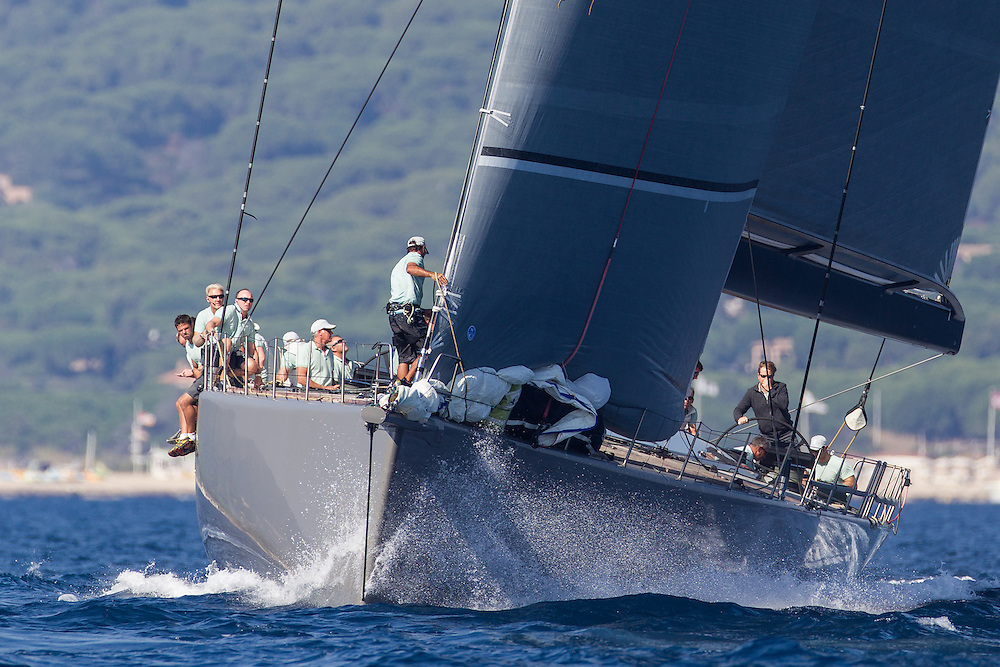 "FRANCE, St Tropez. 5th October 2012. Voiles de St Tropez. GBR 8211N,  Wally Cento ""Hamilton"". Built 2012."