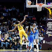 LOS ANGELES, CA - JUN 30: Nneka Ogwumike (30) of the Los Angeles Sparks shoots the ball during a game on June 30, 2019 at the Staples Center, in Los Angeles, California.