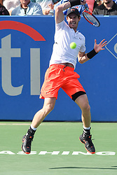 August 1, 2018 - Washington, D.C, U.S - ANDY MURRAY hits a forehand during his 2nd round match at the Citi Open at the Rock Creek Park Tennis Center in Washington, D.C. (Credit Image: © Kyle Gustafson via ZUMA Wire)