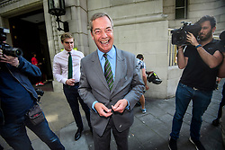 © Licensed to London News Pictures. 01/06/2017. London, UK.   Former UKIP leader Nigel Farage is seen in London.    He has said that he doubts that the FBI are going to name him as a 'person of interest' in their investigation into Russian involvement in the U.  S.   election. Photo credit: Ben Cawthra/LNP