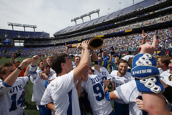 2014 May 26: Duke Blue Devils celebrate winning the NCAA championship with a 11-9 win over the Notre Dame Fighting Irish at M&T Bank Stadium in Baltimore, MD.