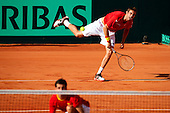 Double Davis Cup Match 1/4 Final. Spain vs Austria