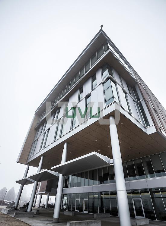 UVU campus on a foggy winter morning, Thursday February 11, 2016. (Nathaniel Ray Edwards, UVU Marketing)