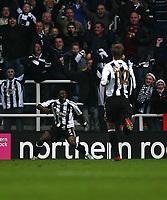 Photo: Andrew Unwin.<br />Newcastle United v Tottenham Hotspur. The Barclays Premiership. 23/12/2006.<br />Newcastle's Obafemi Martins (L) celebrates his goal.