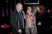 ALAN AYCKBOURN; KARA TOINTON; ELIZABETH BERRINGTON; , Absent Friends - press night  afterparty. Mint Leaf. Haymarket. London. Thursday 9 February 2012