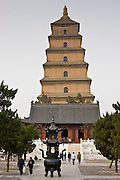 Big Wild Goose Pagoda, Tang dynasty architecture, Xian, China