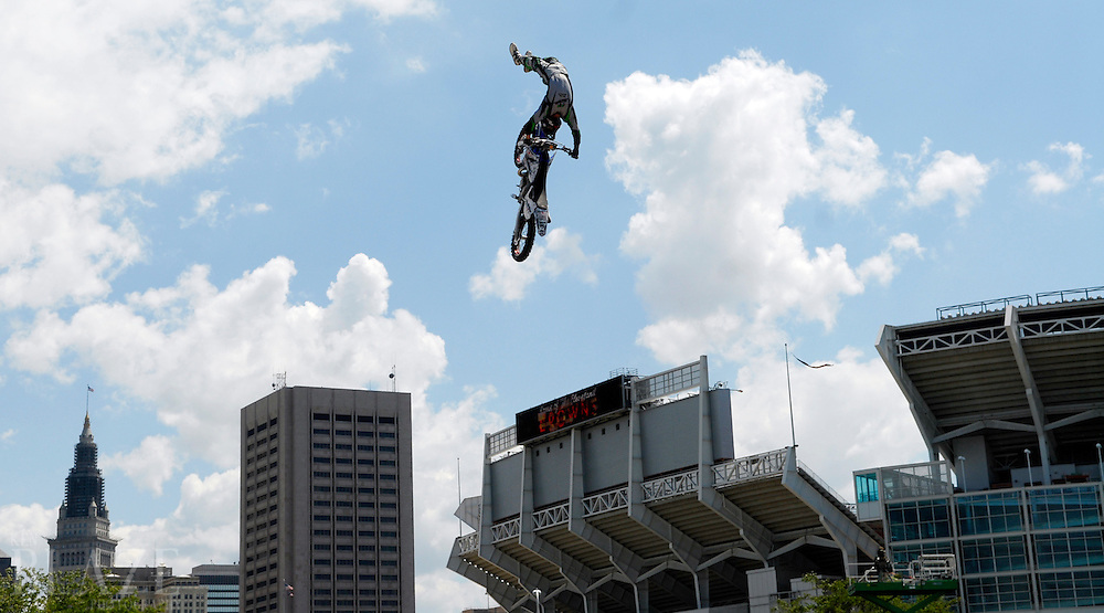 Jeremy Lusk at the FMX Finals at the AST Dew Tour Right Guard Open in Cleveland...Photo by Ken Blaze