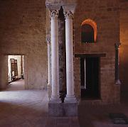 Palermo, Zisa castle, 12th century, fatimid columns.<br /> Palermo, castello della Zisa,  XII sec, colonne fatimite.