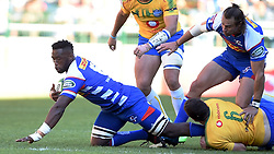 Cape Town-180506 Stomers captain Siya Kolisi played his 100th game for his team  in the Super 15 Cup at Newlands Stadium .photograph:Phando Jikelo/African News Agency/ANA