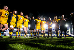 Wasps A huddle - Mandatory by-line: Robbie Stephenson/JMP - 16/12/2019 - RUGBY - Sixways Stadium - Worcester, England - Worcester Cavaliers v Wasps A - Premiership Rugby Shield